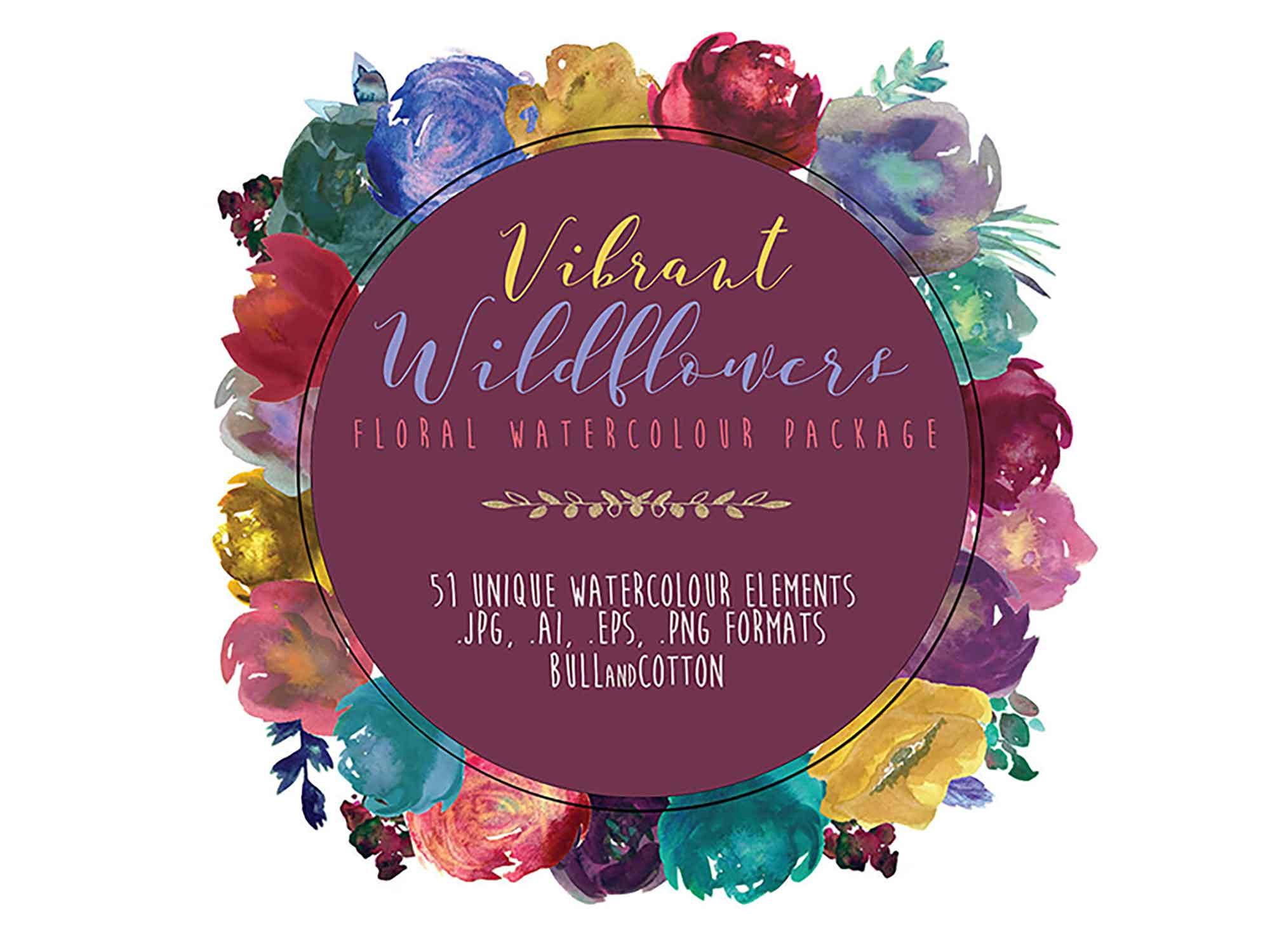Vibrant Wildflower Design Elements