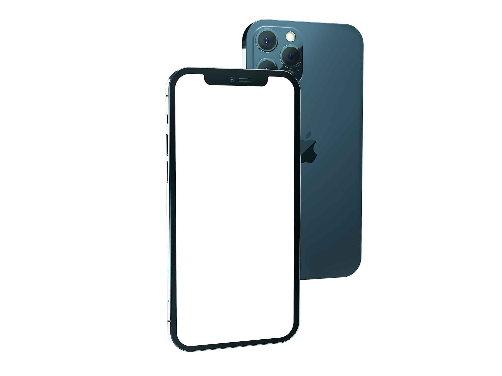 iPhone 12 Pro Isometric Mockup 2