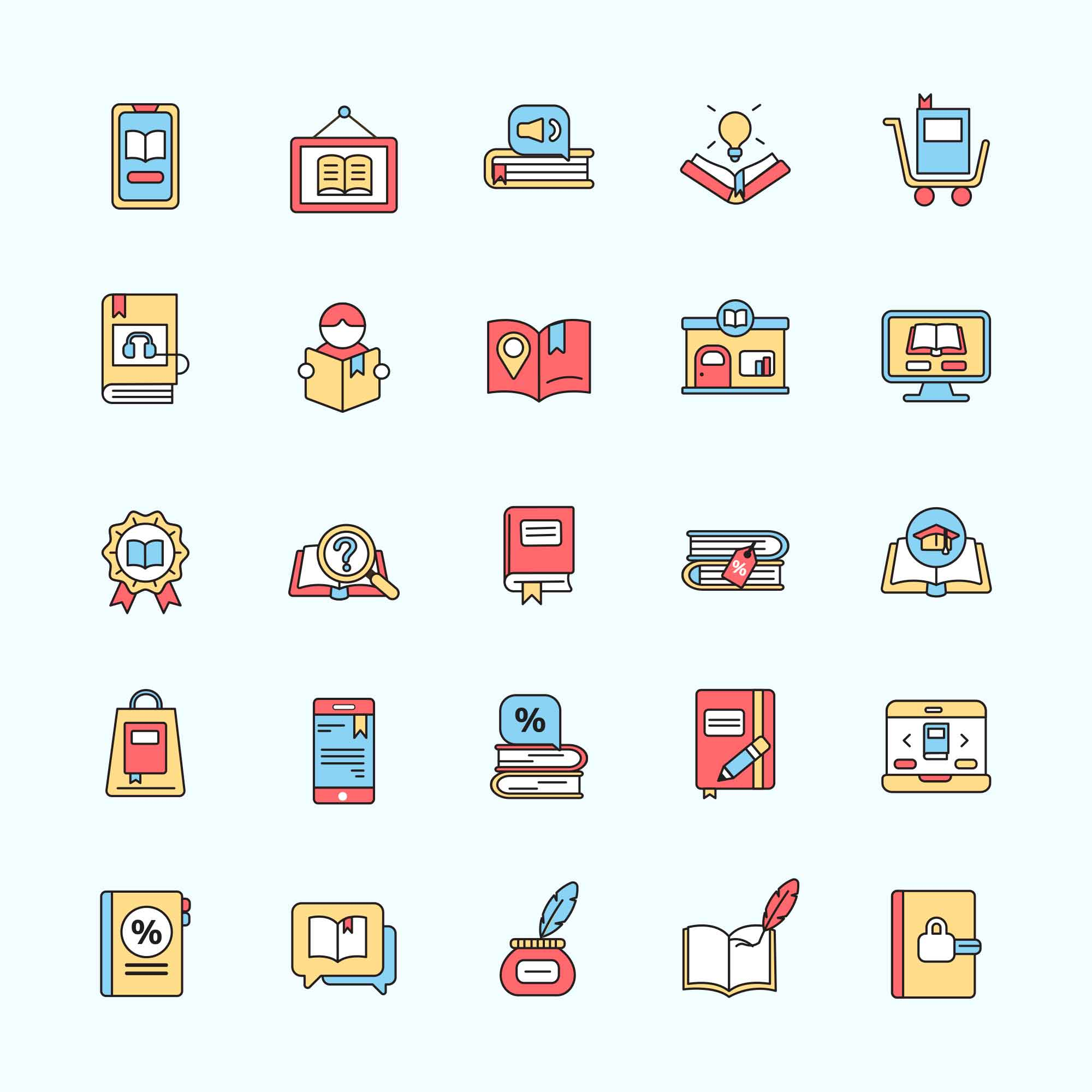 Book Store Icons