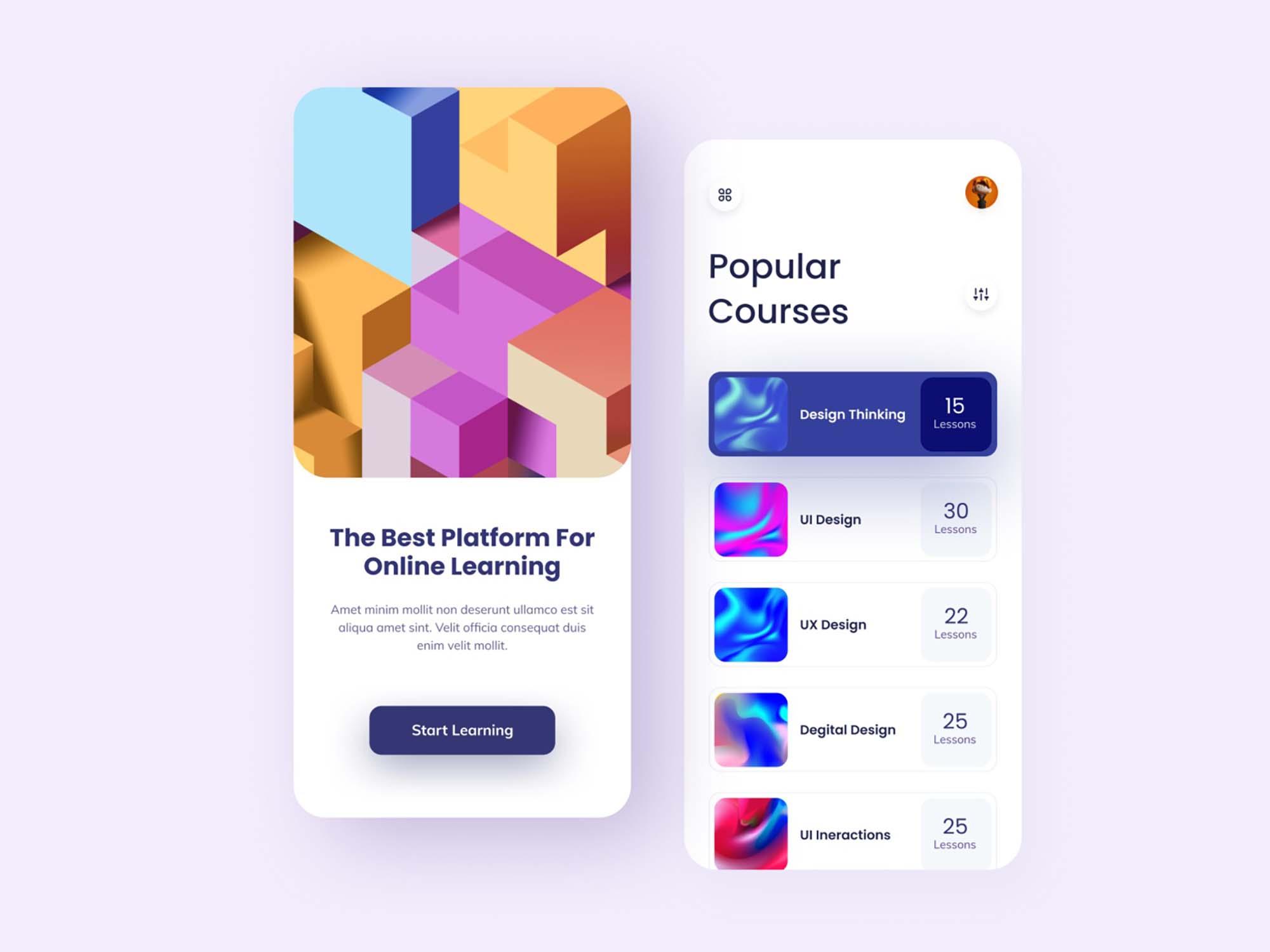 Online Learning Mobile App Template 1