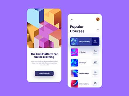 Online Learning Mobile App Template 2