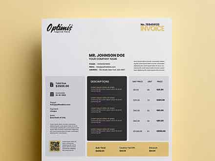Optimis Invoice Template