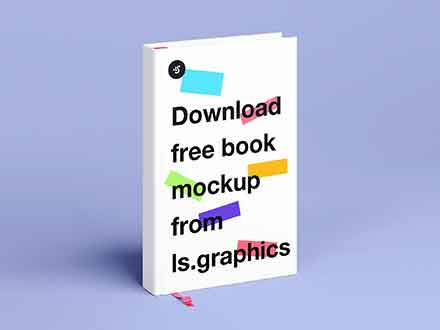 Standing Hard Cover Book Mockup