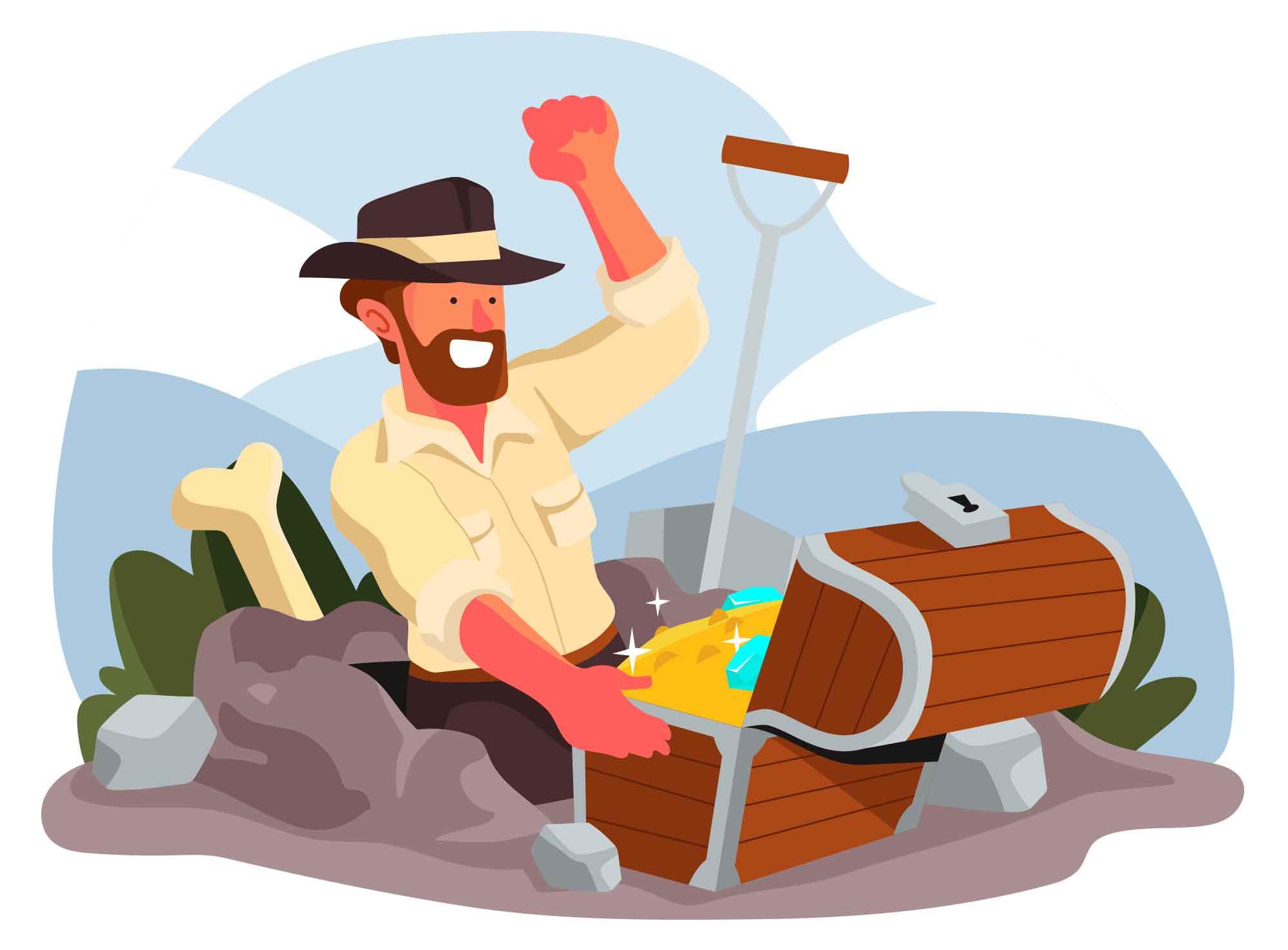 Treasure Hunter Illustration