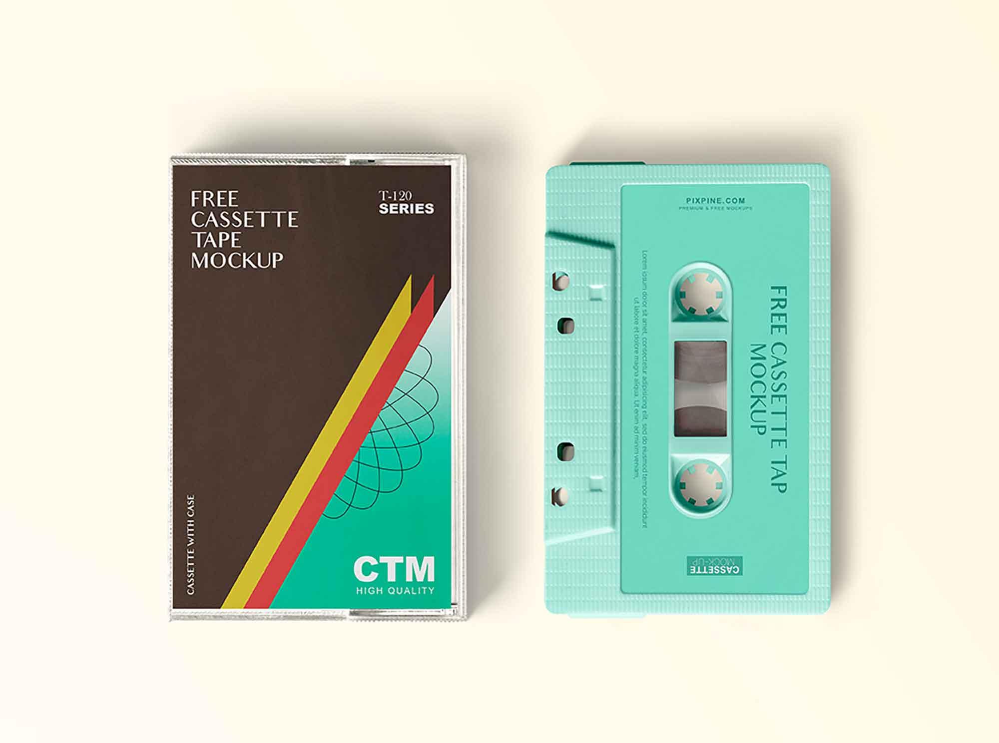 Vintage Cassette Tape Mockup