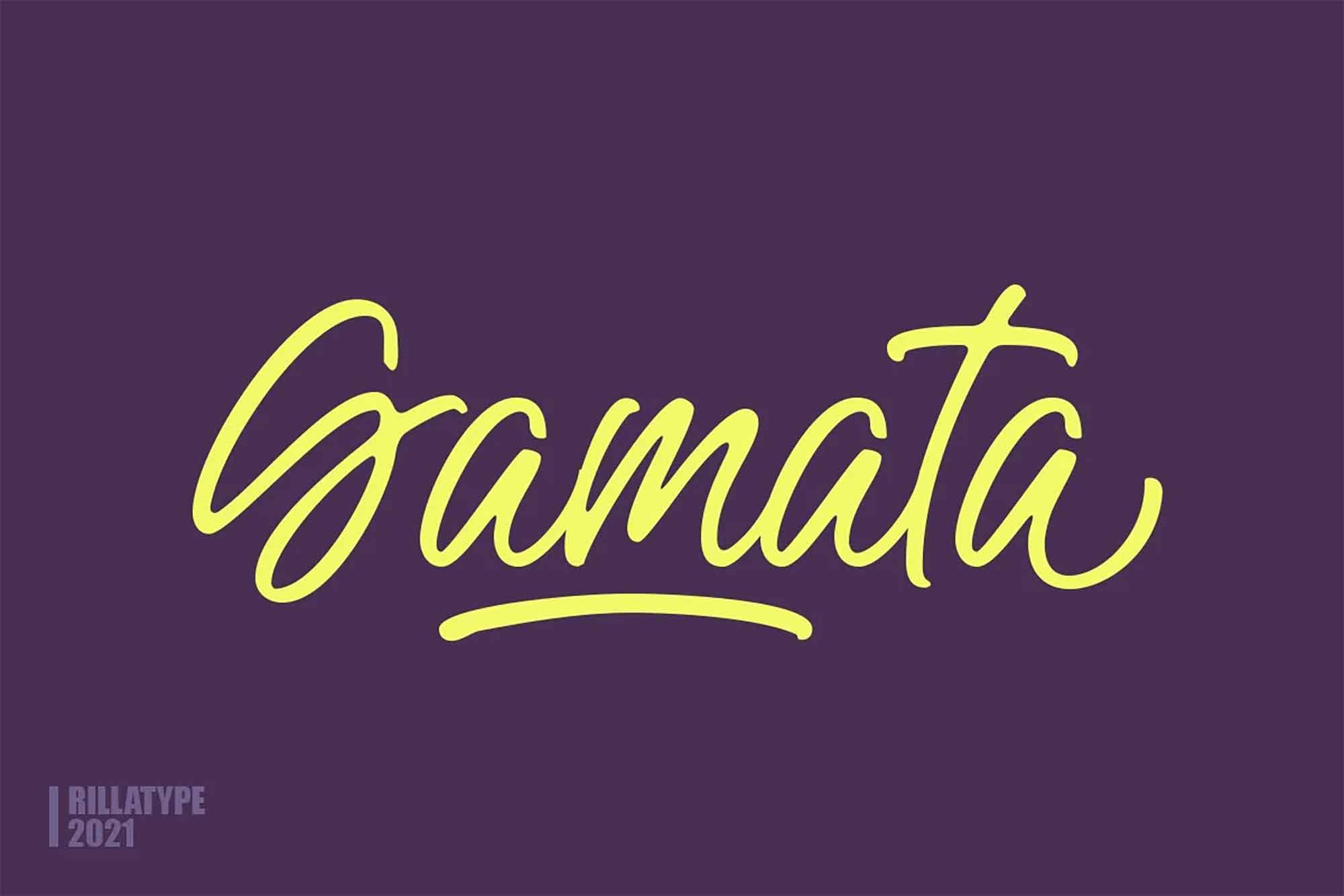 Gamata Handwritten Script Font 2
