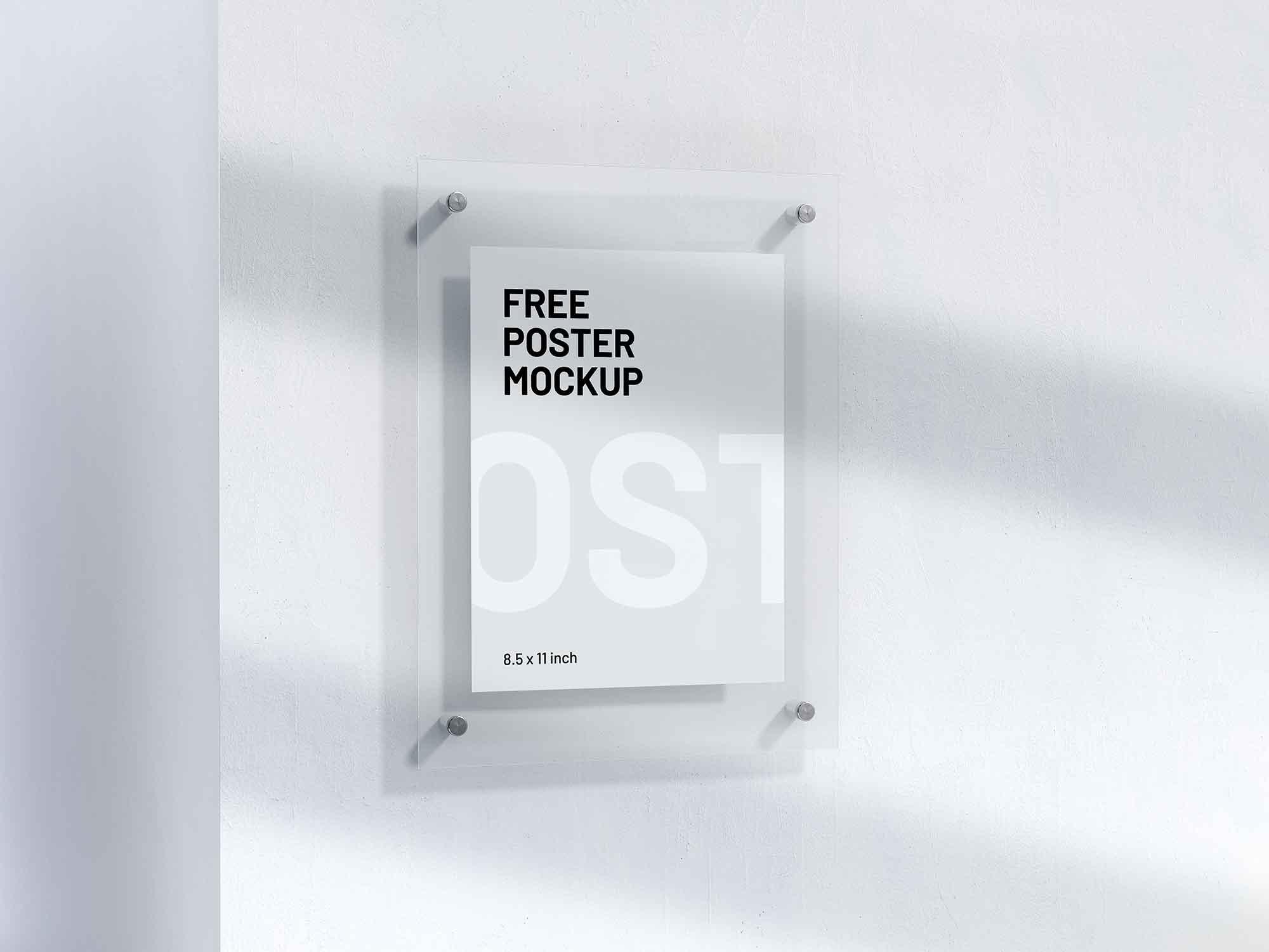 Letter Size Poster Mockup