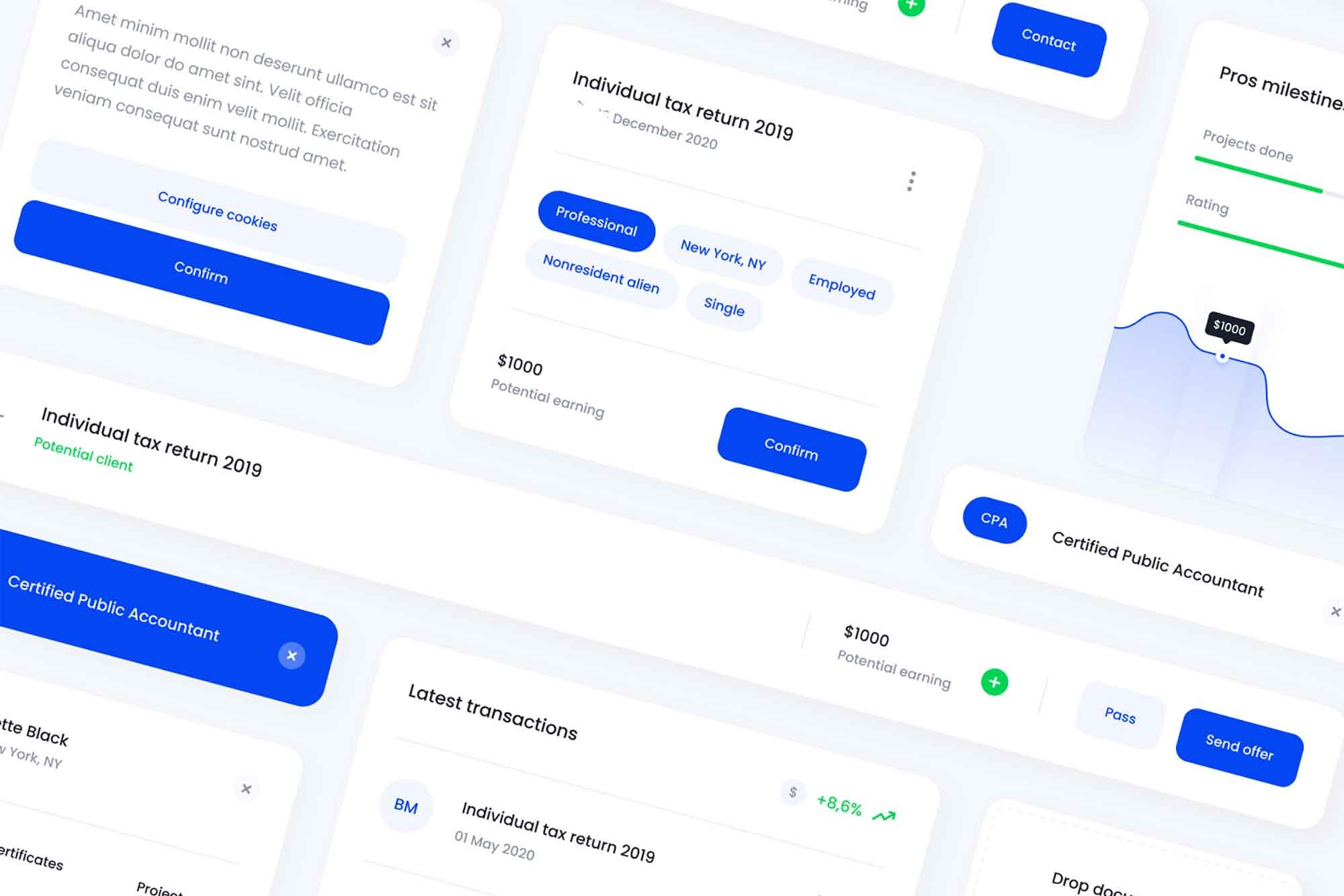 Platform Design Card UI Template 2