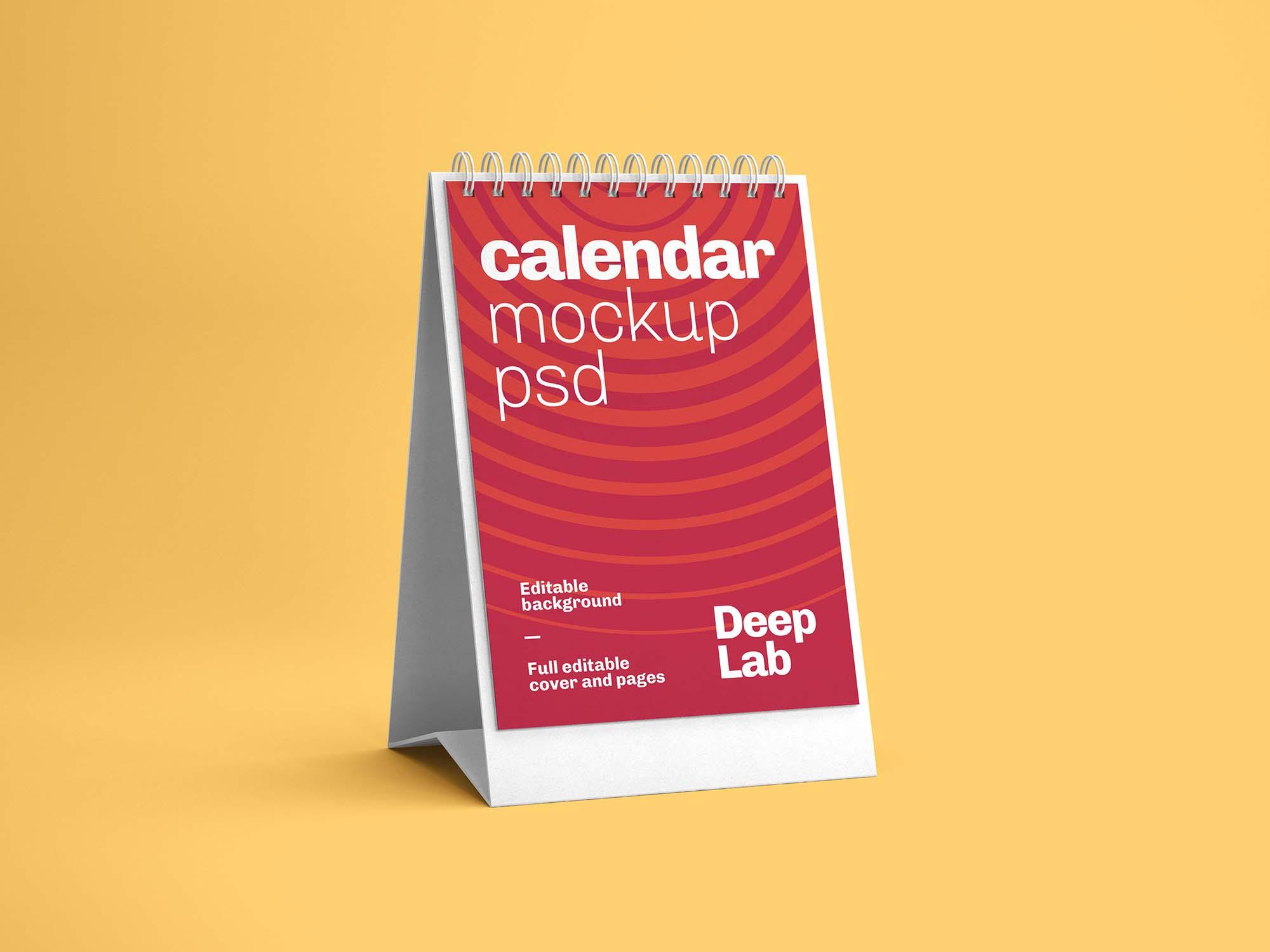 Vertical Desk Calendar Mockup 1