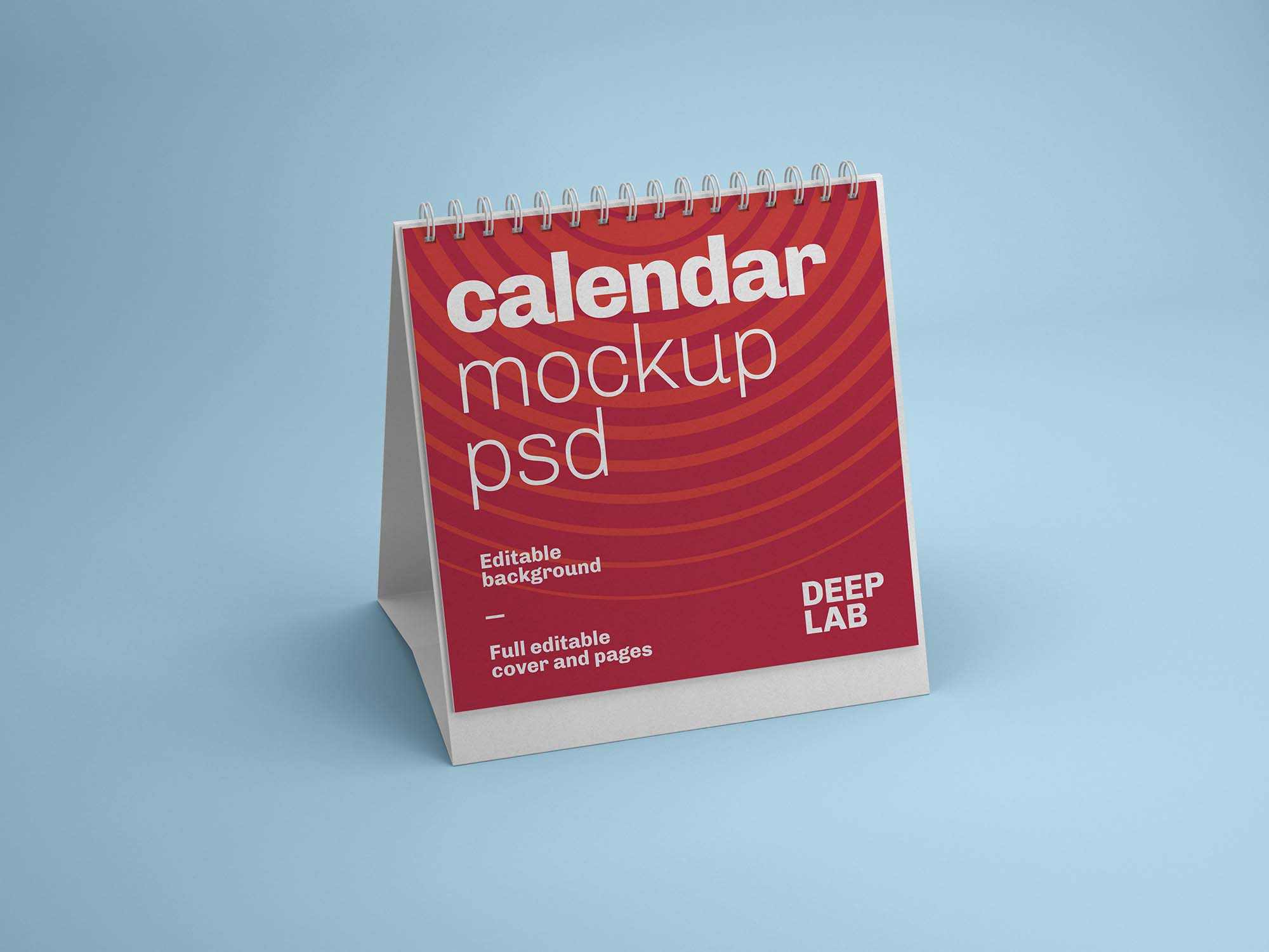 Square Desk Calendar Mockup 1