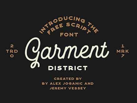 Garment District Monoline Script