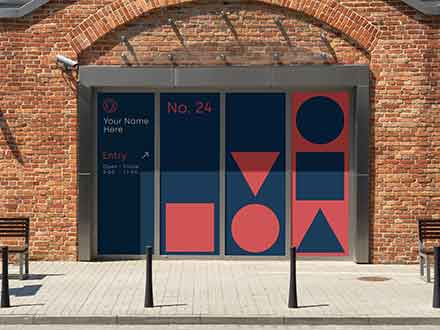 Shop Window Sign Mockup