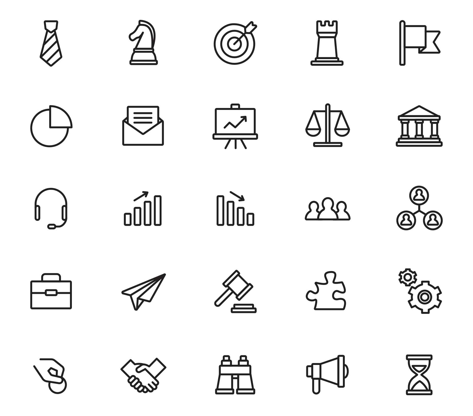 Business Icons Line Set