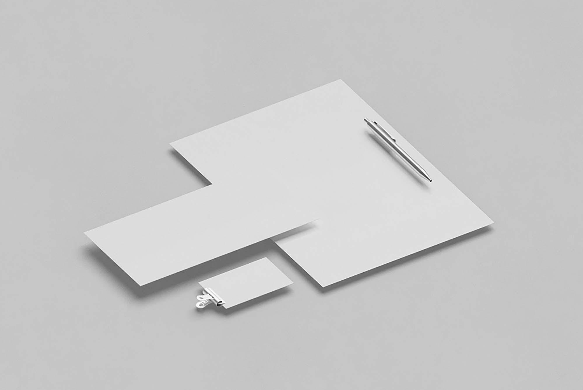 Basic Isometric Stationery Mockup 2