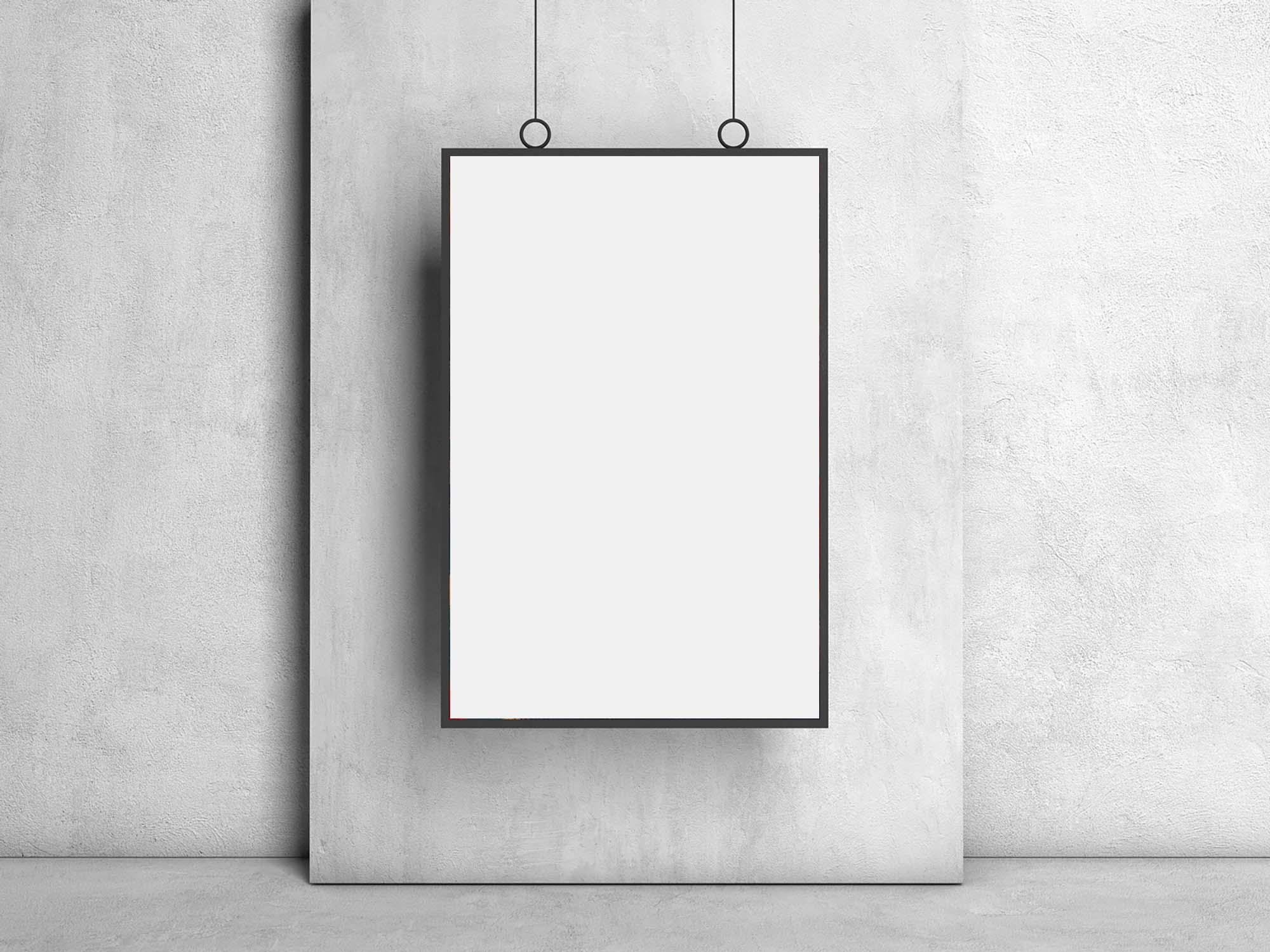 Hanging Frame Poster Mockup 2