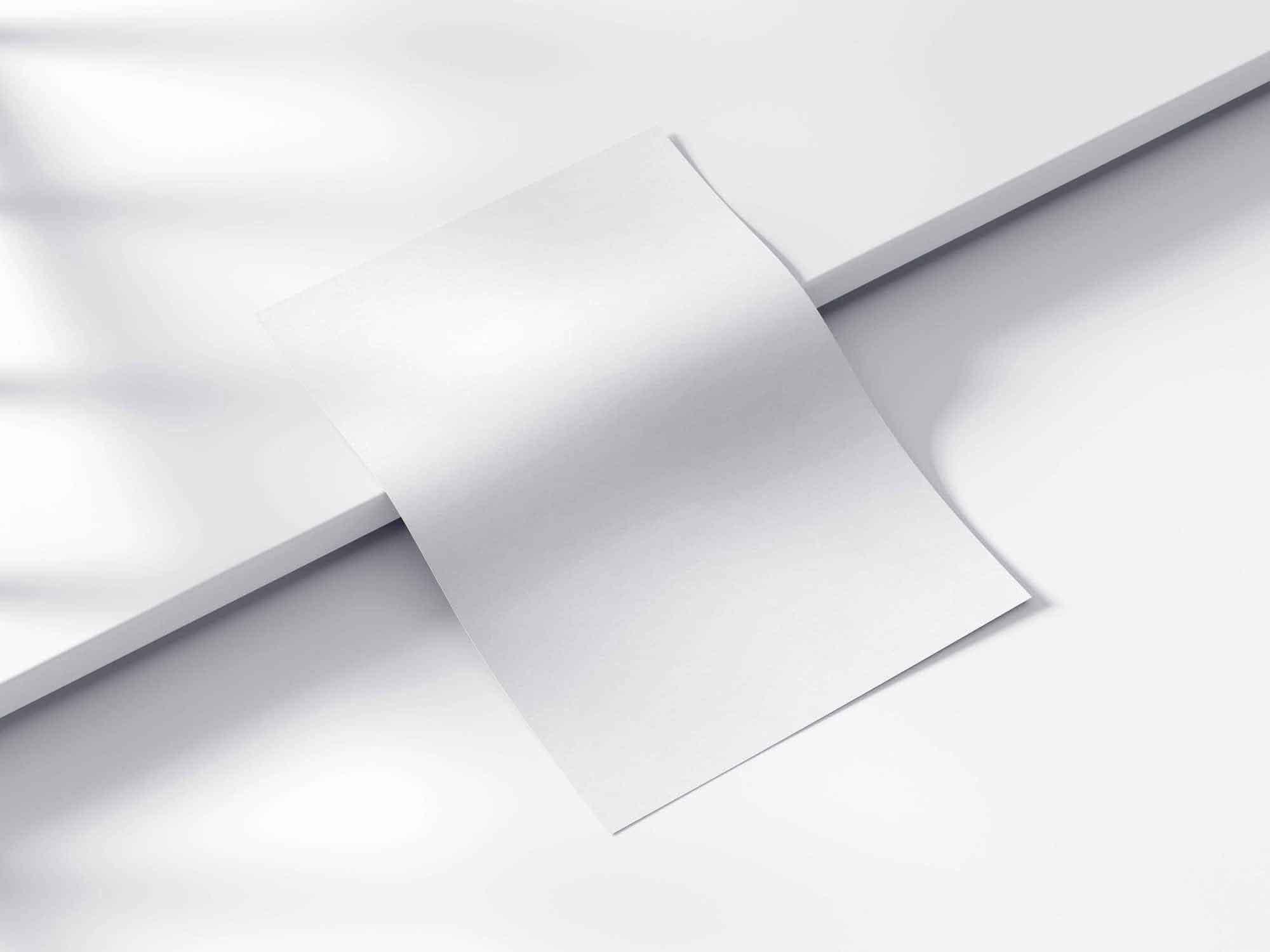 3D Curved Paper Mockup 3