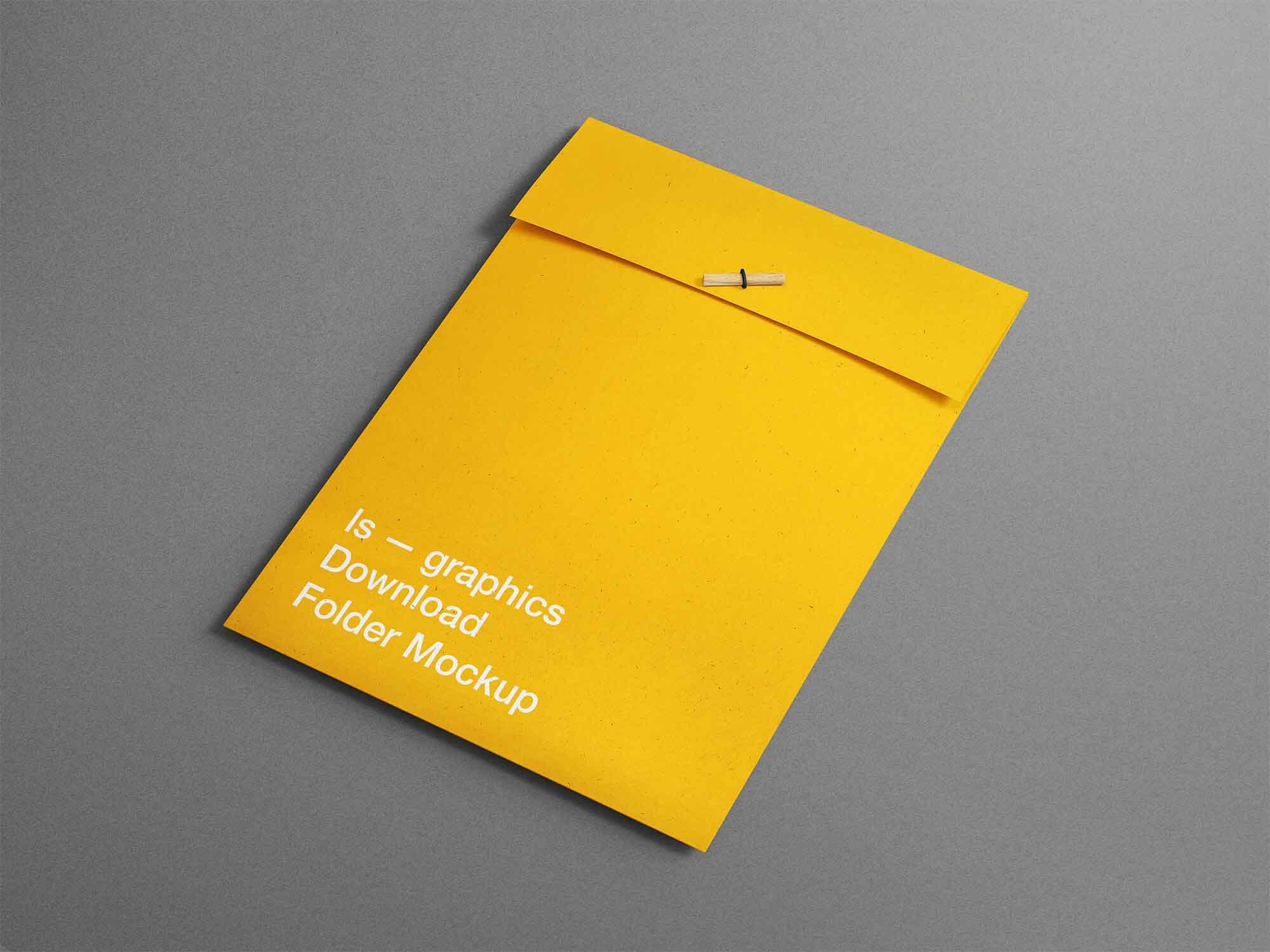 A4 Folder Mockup 2