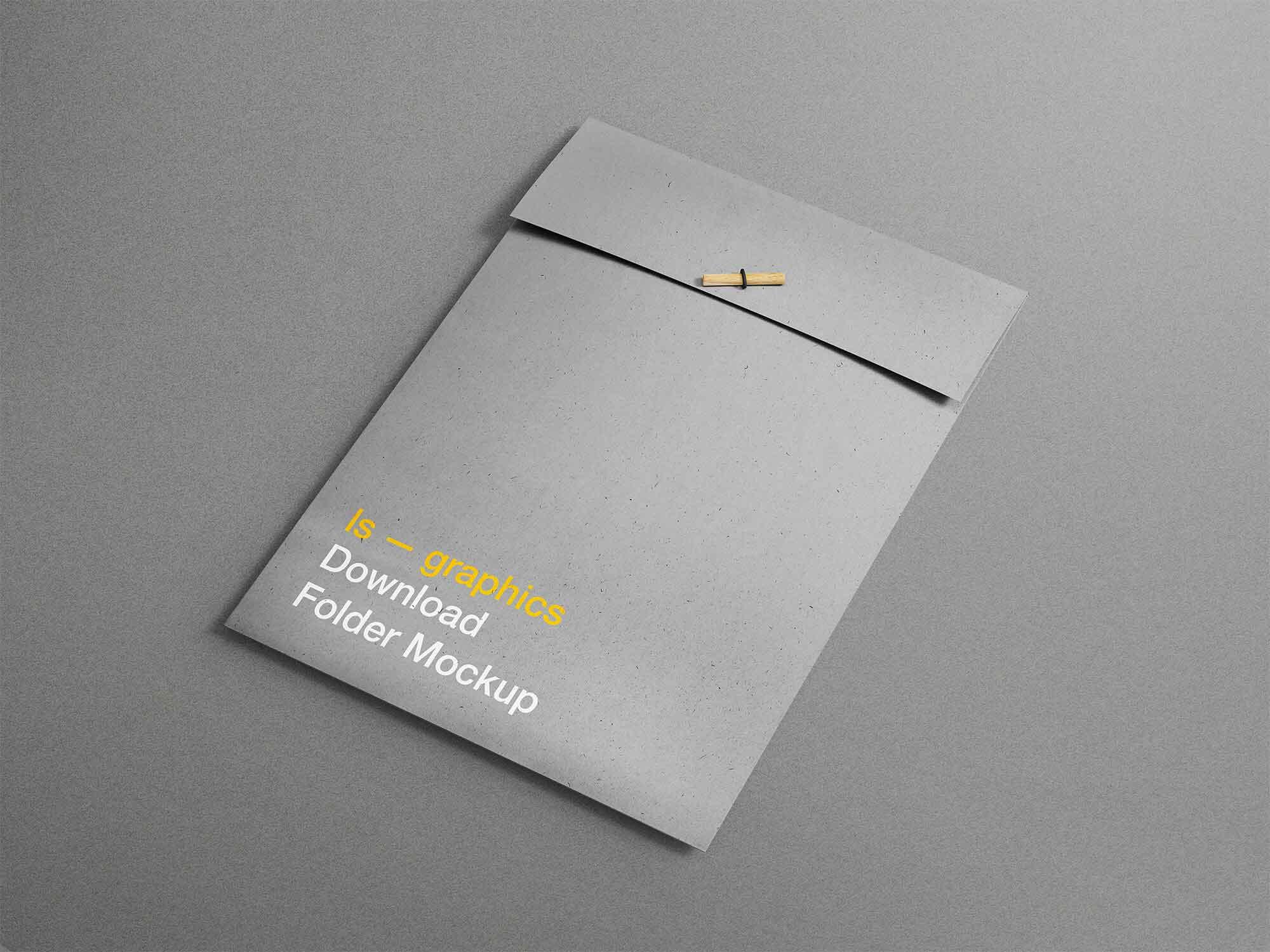 A4 Folder Mockup