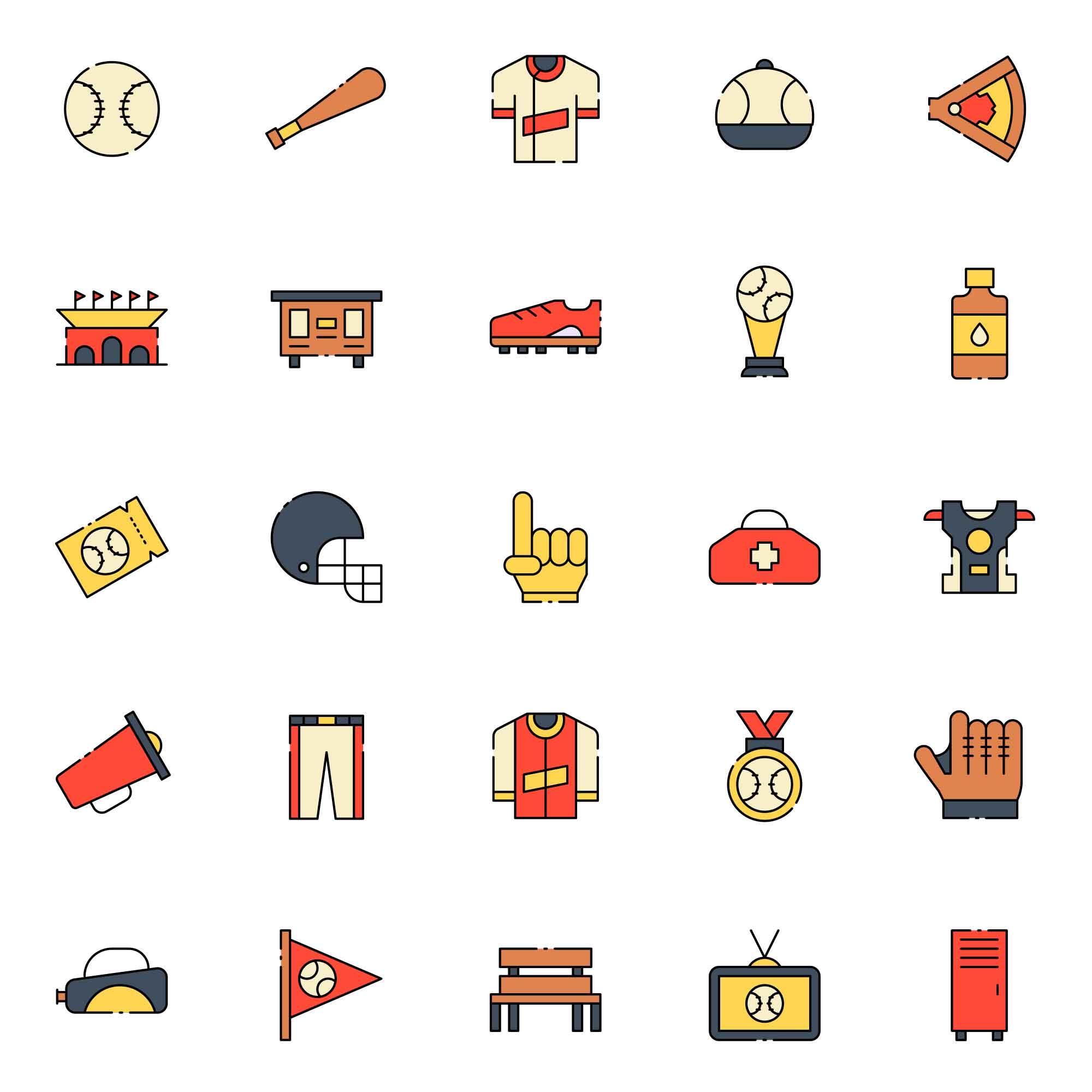 Baseball Vector Icons
