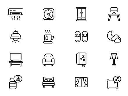 Bedroom Vector Icons