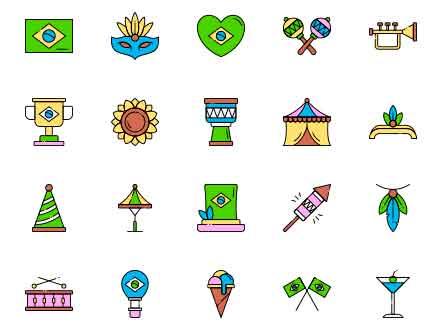 Brazilian Carnival Icons