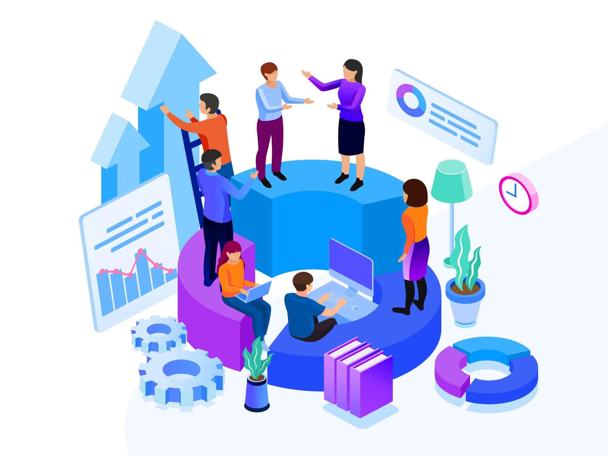 Business Team Building Illustration