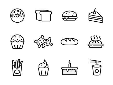 Cake and Bakery Icons