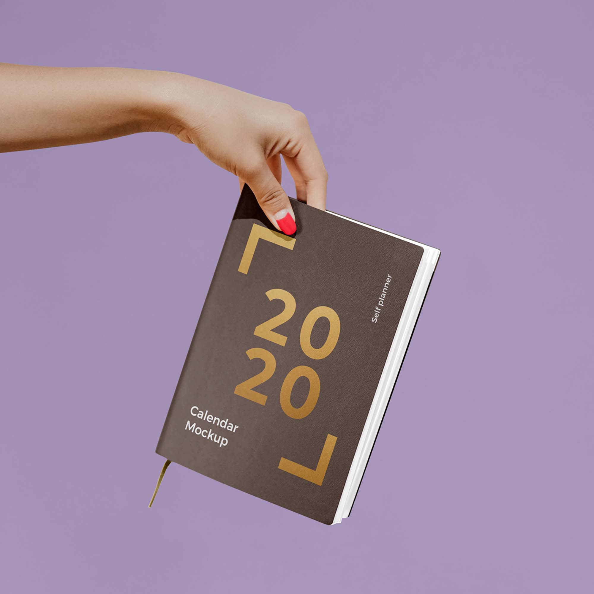 Calendar in Hand Mockup