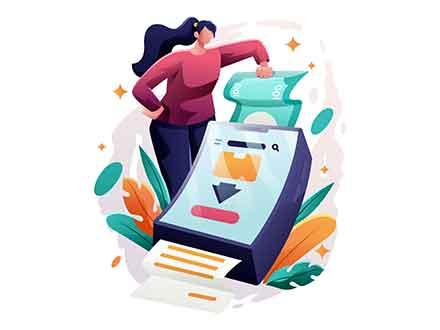 Checkout Process Illustration