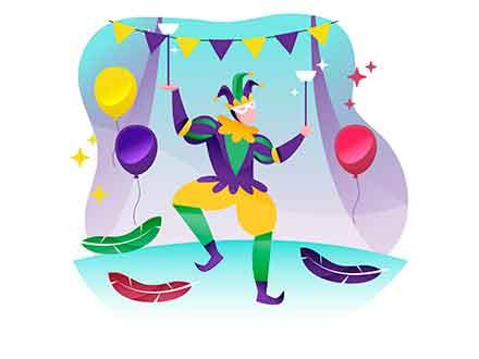 Dancing Clown Illustration
