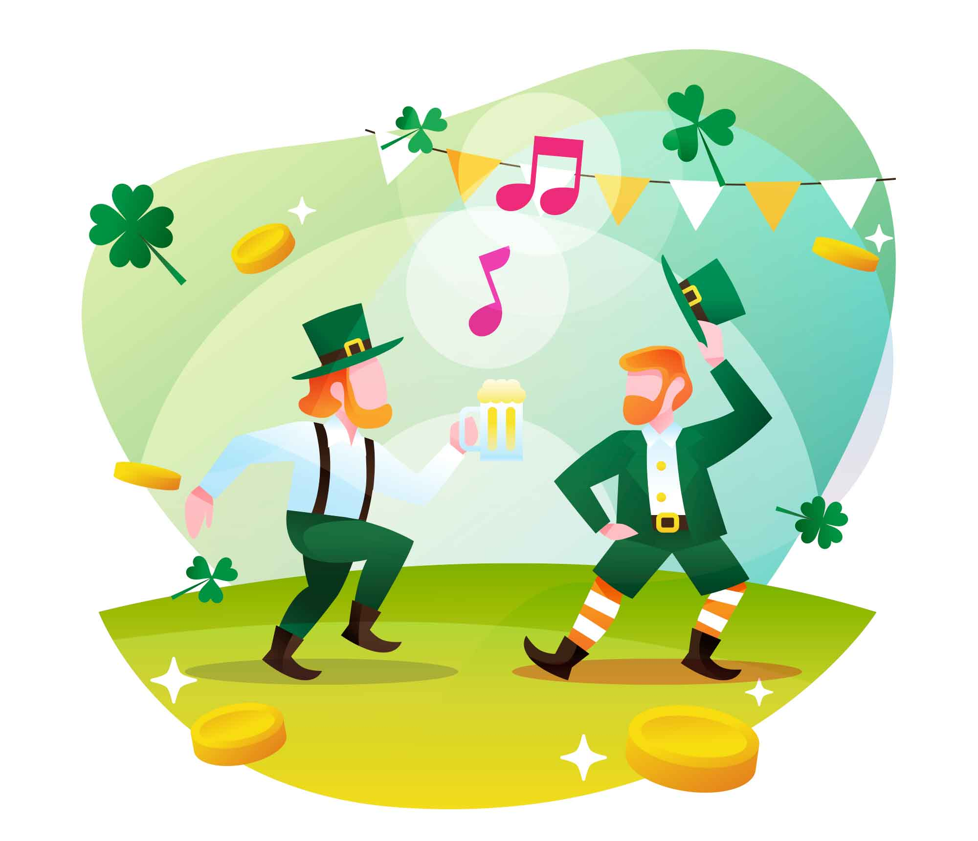 Dancing Leprechaun Illustration