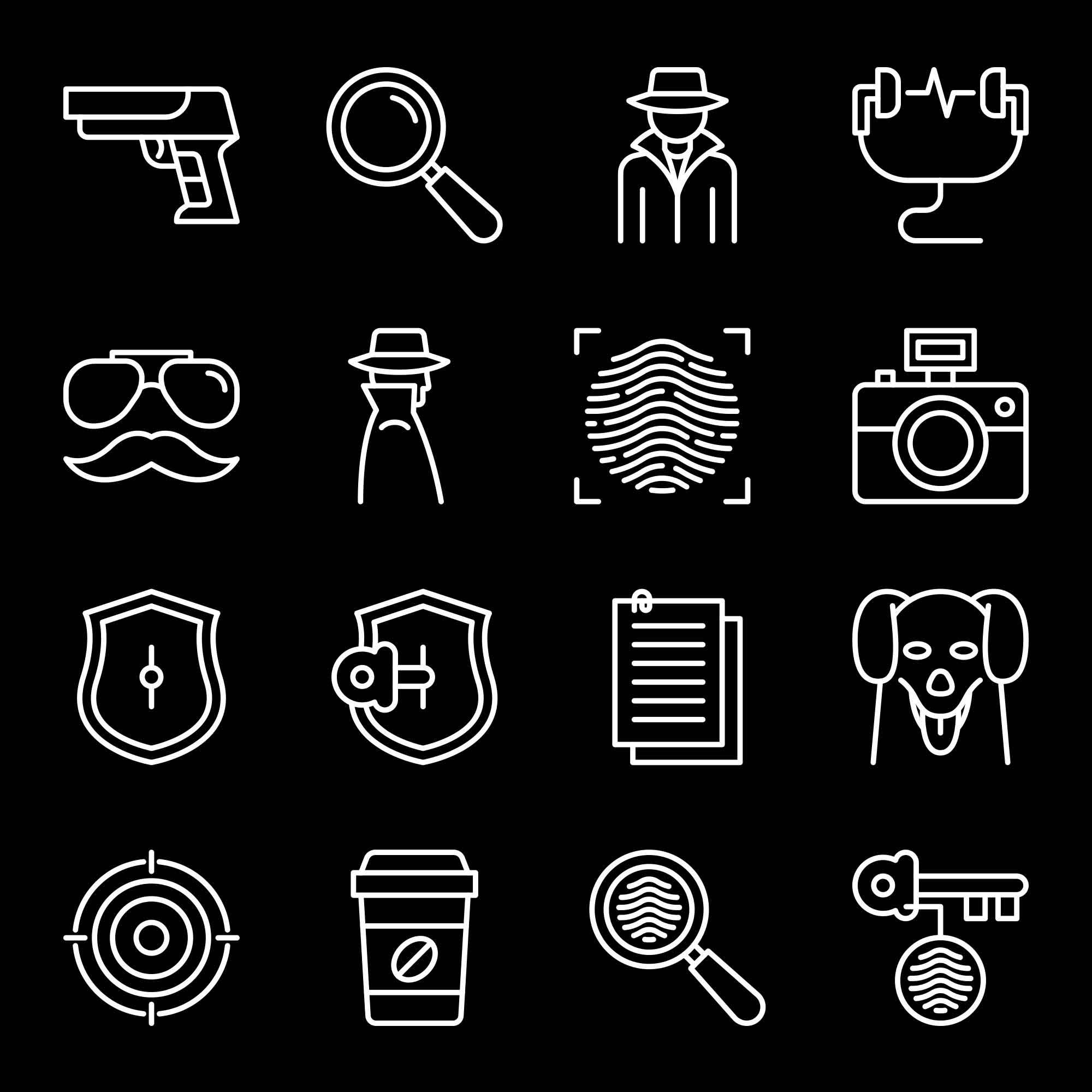 Detective Vector Icons 2