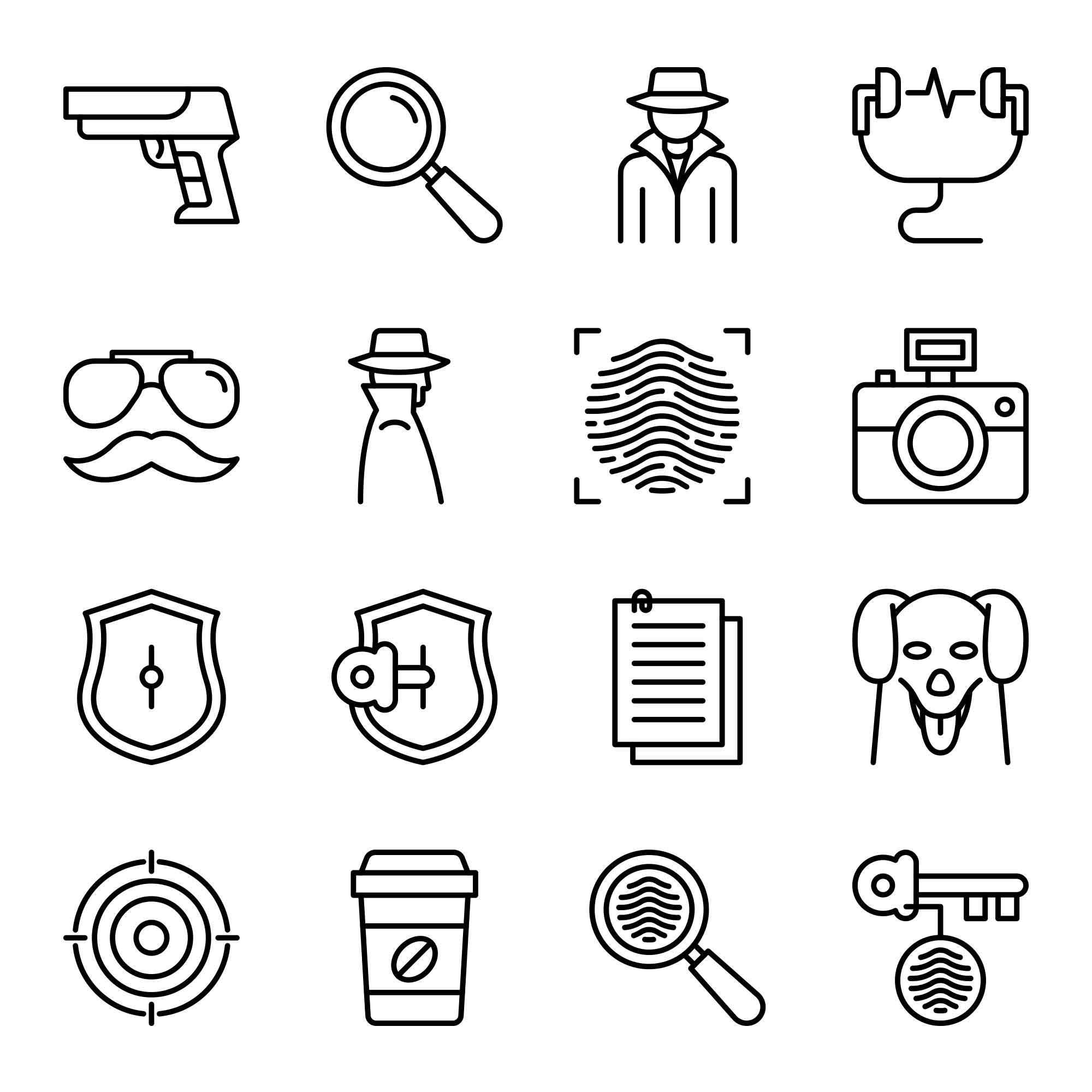 Detective Vector Icons