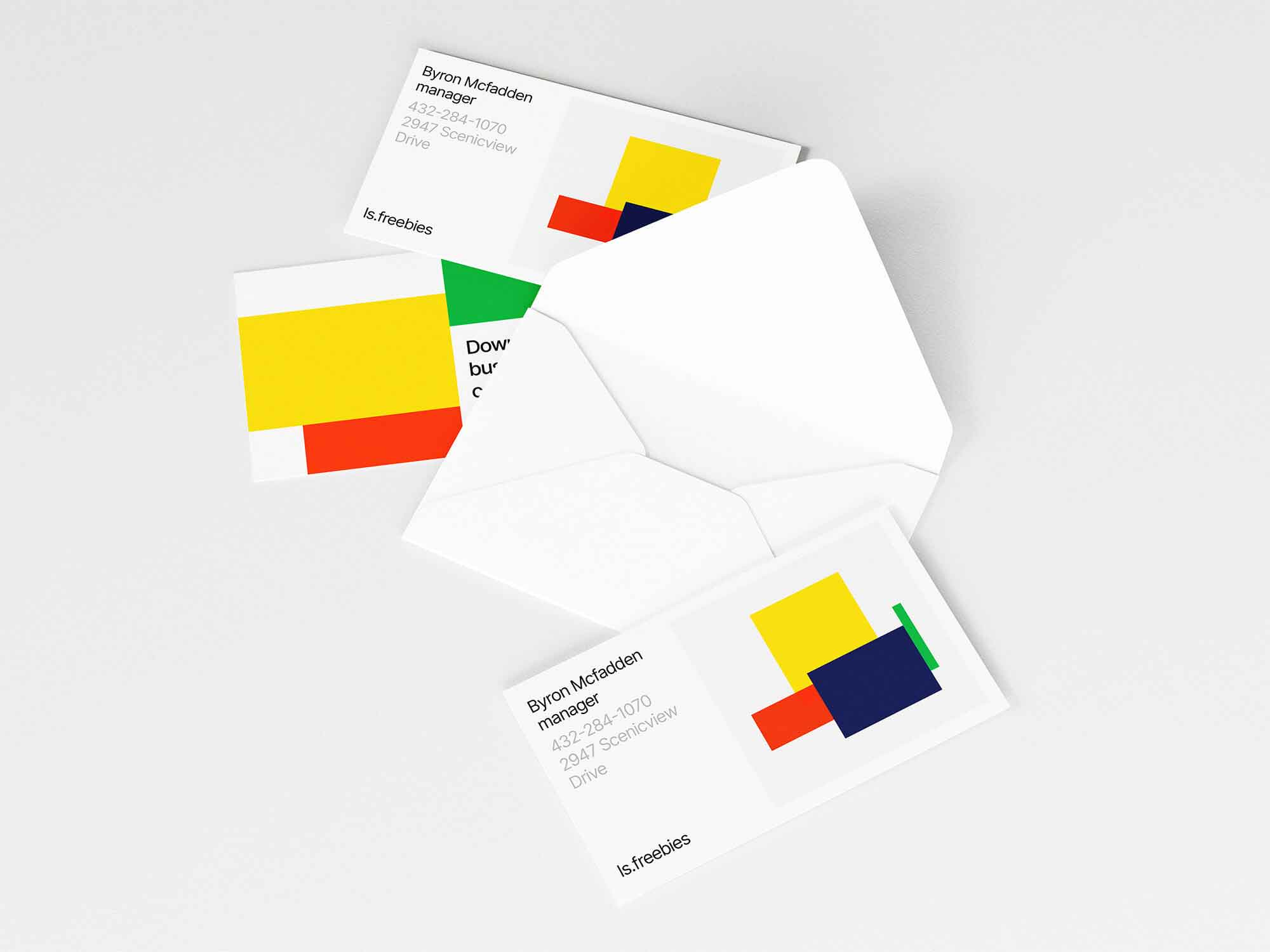 Envelope and Business Cards Mockup