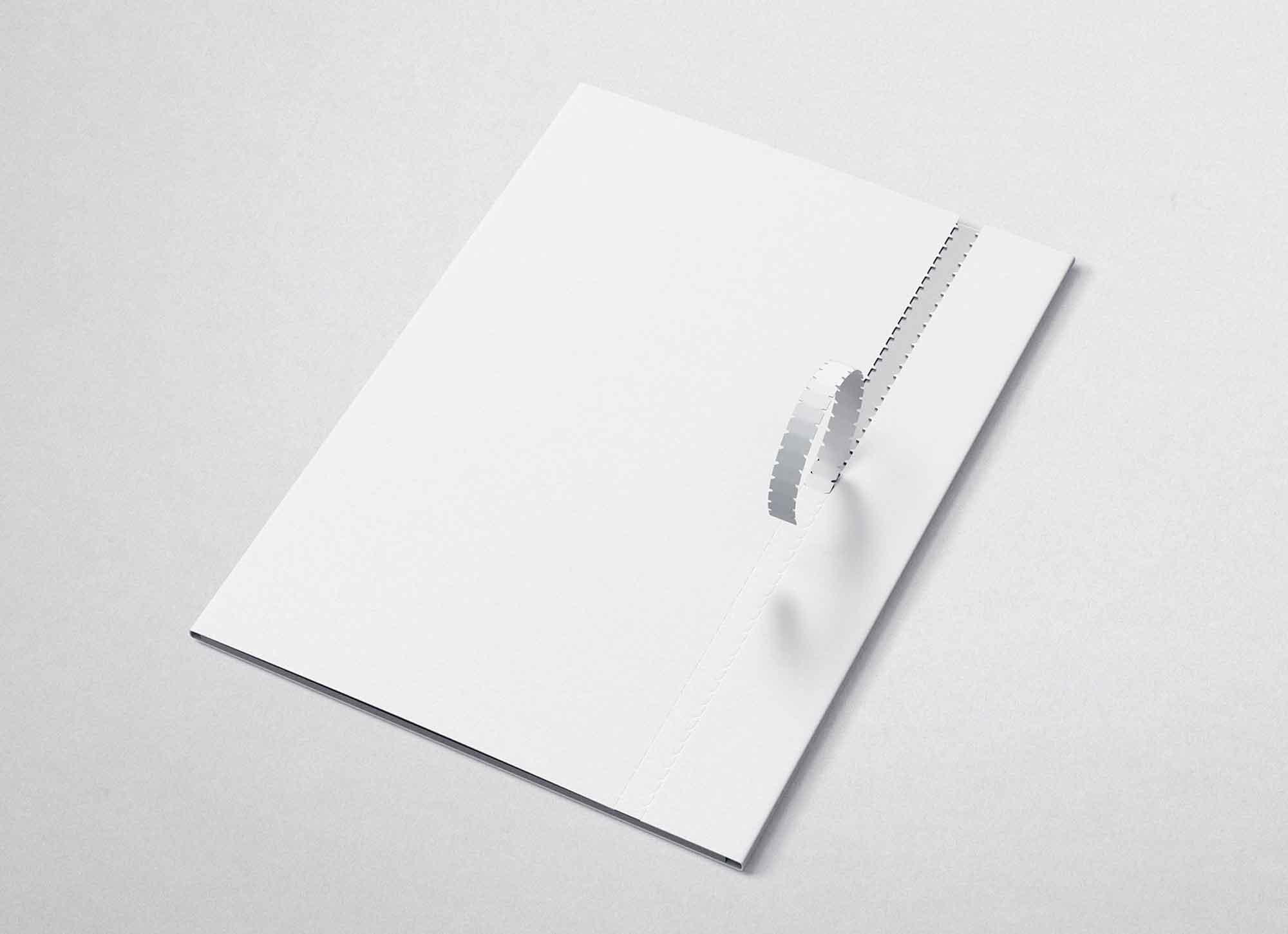 Folder Mockup with the Perforation 2