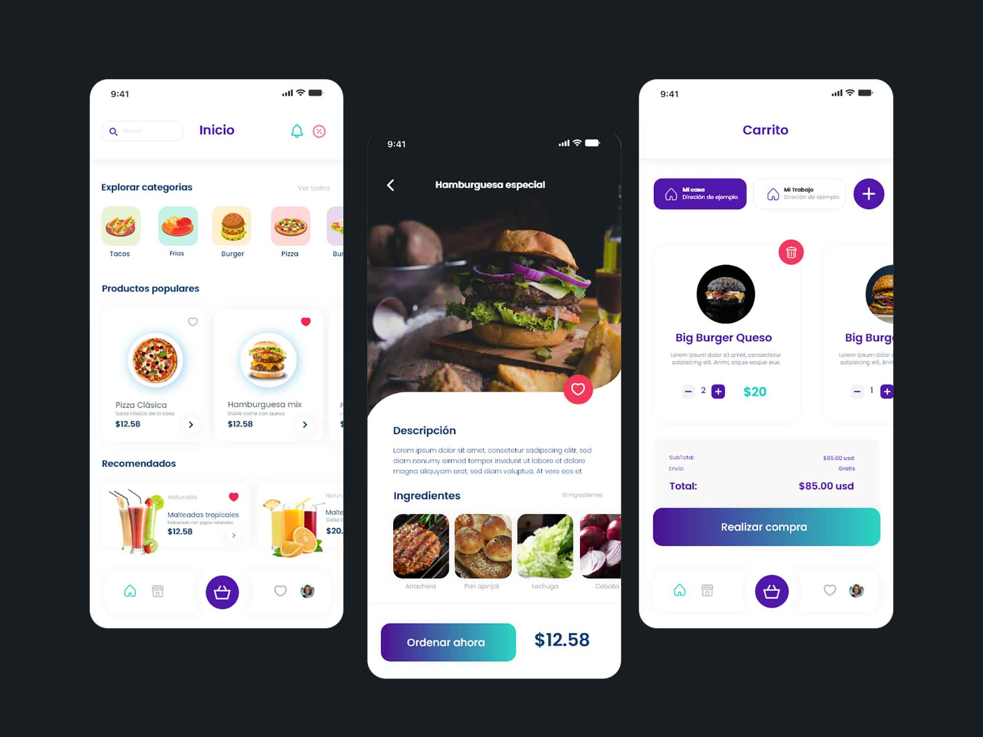 Food Delivery App Template 2