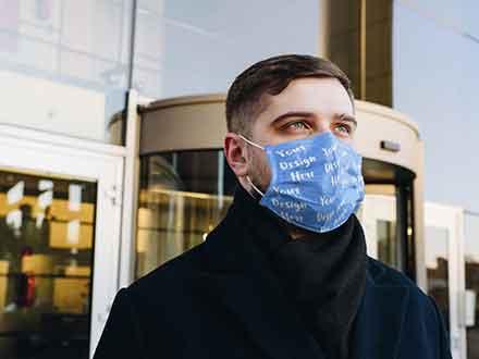 Man Wearing a Face Mask Mockup
