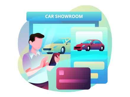 Online Car Purchase Illustration