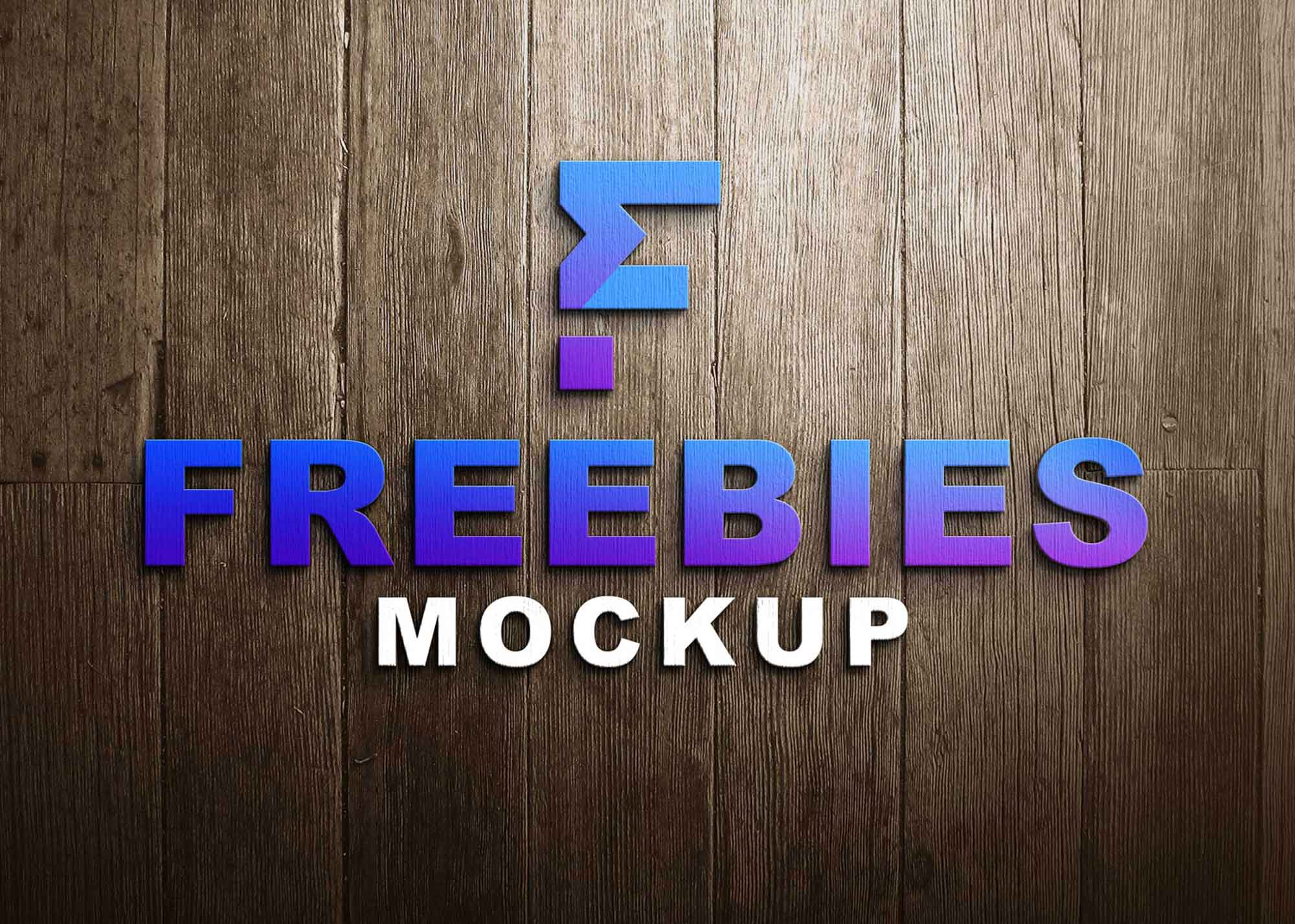 3D Simple Logo Mockup