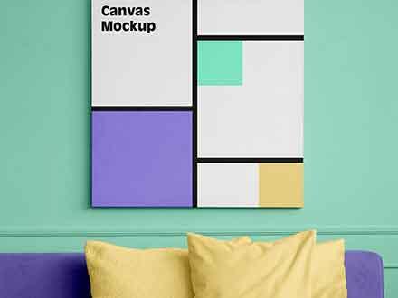 Square Canvas Mockup