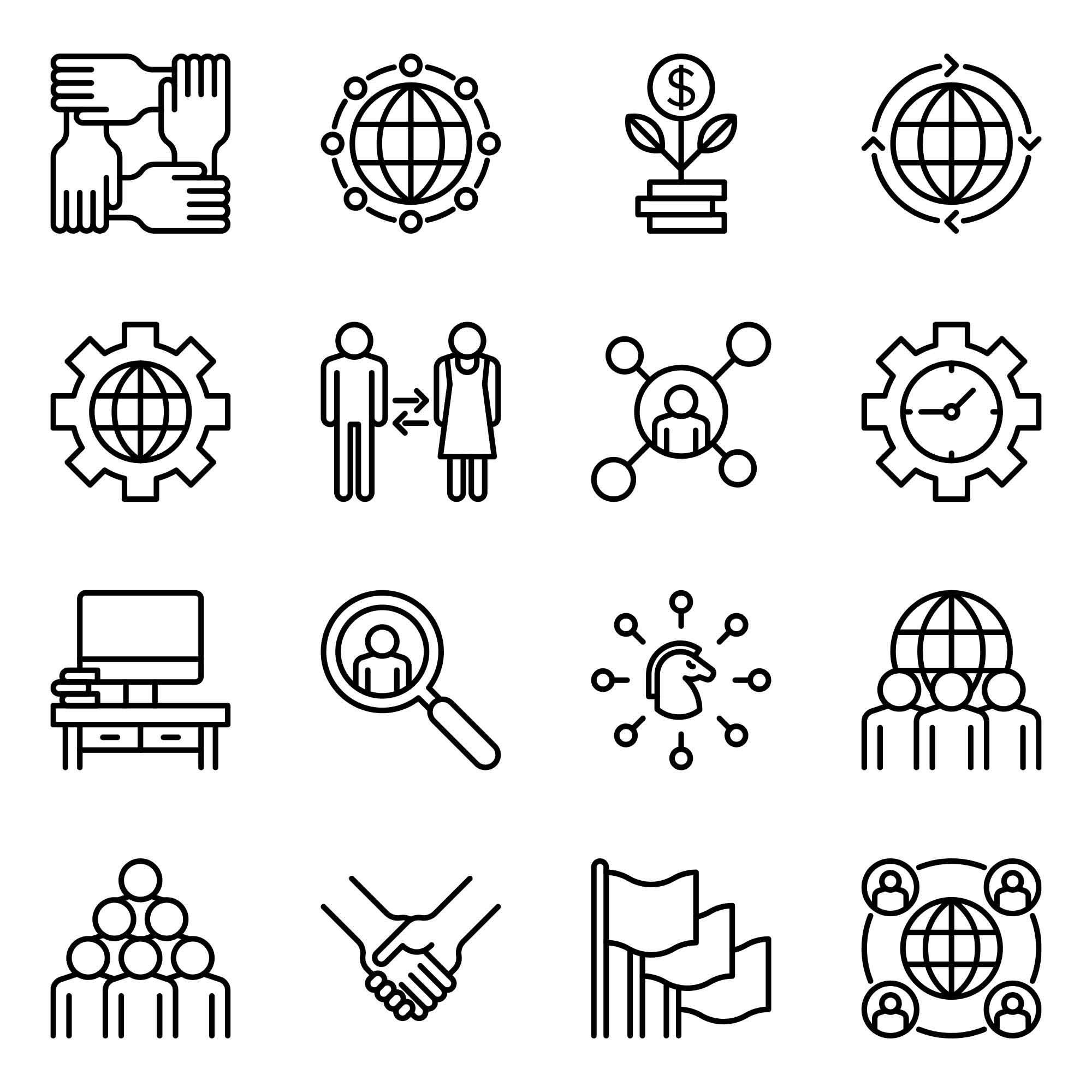 Corporate Vector Icons