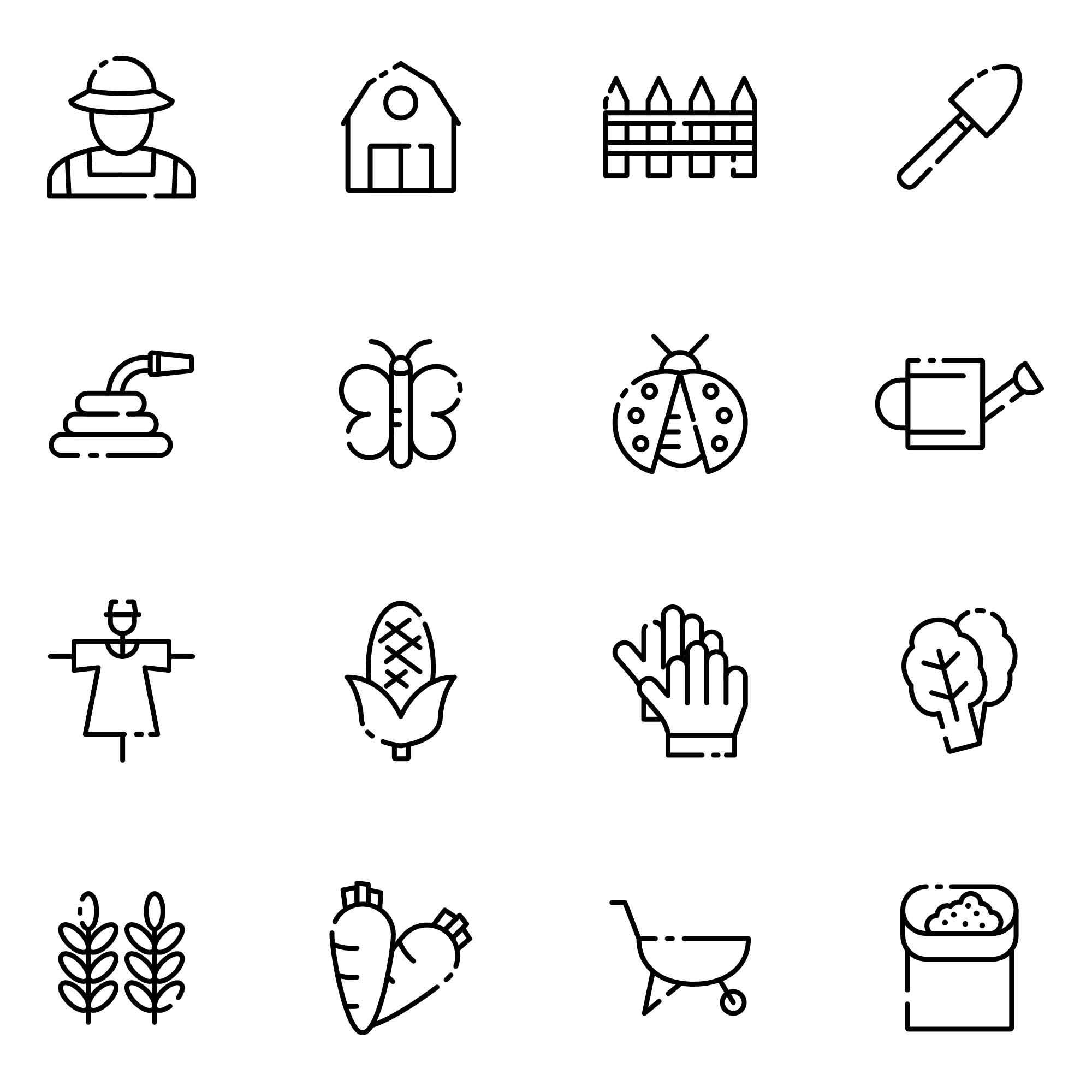 16 Farm Vector Icons