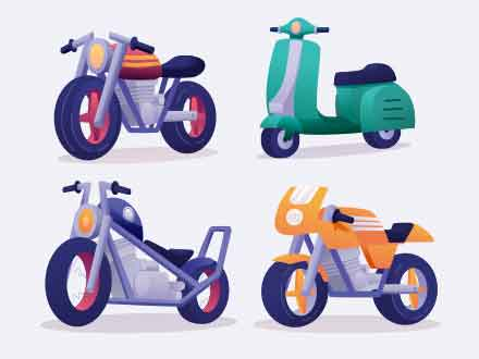 4 Motorcycle Illustrations