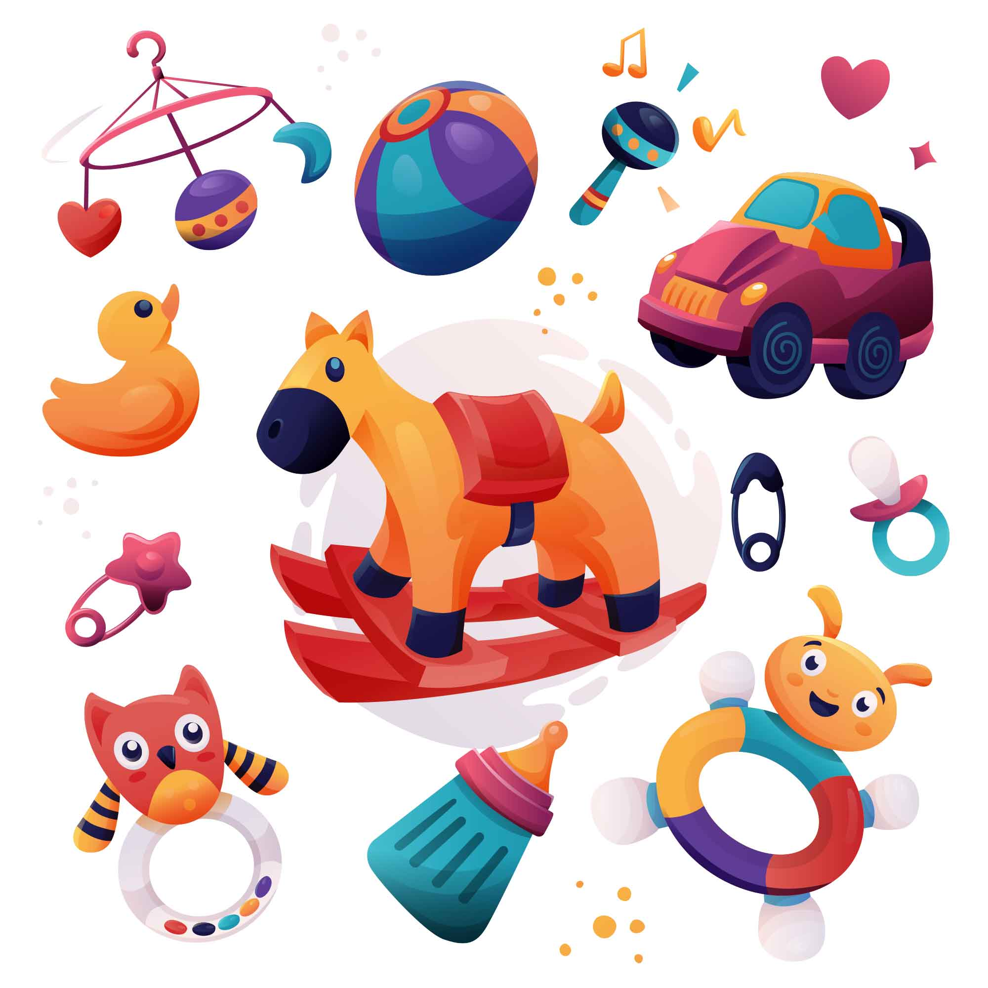 Baby Toy Illustrations