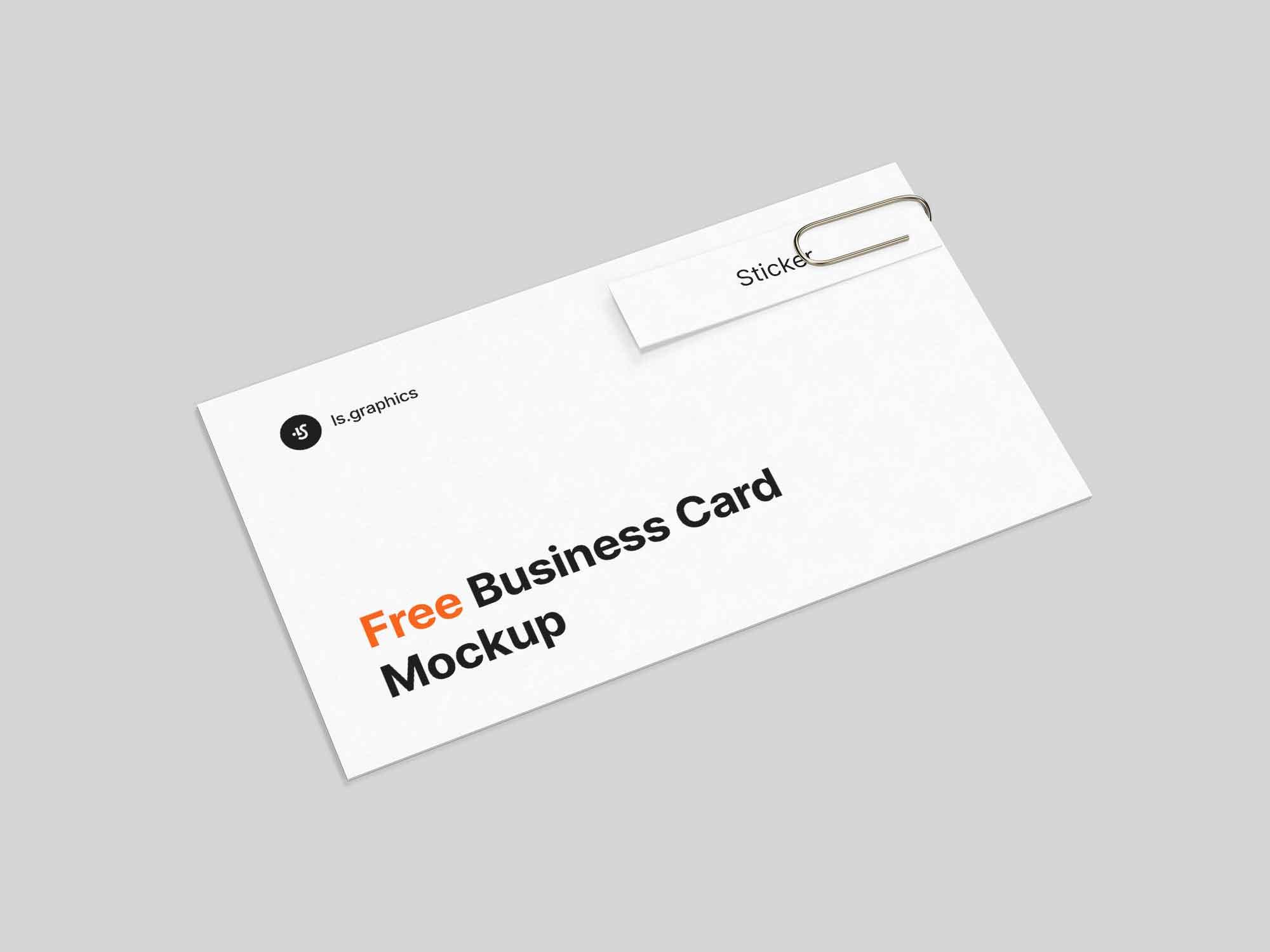 Business Card & Sticker Mockup
