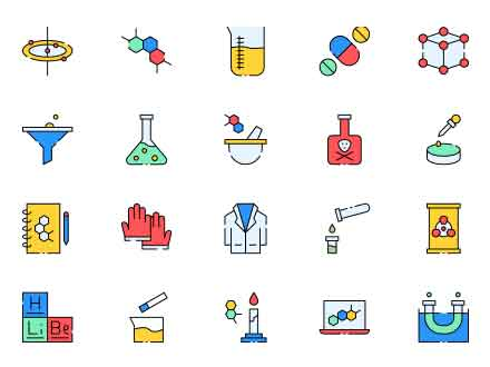 Chemist Vector Icons