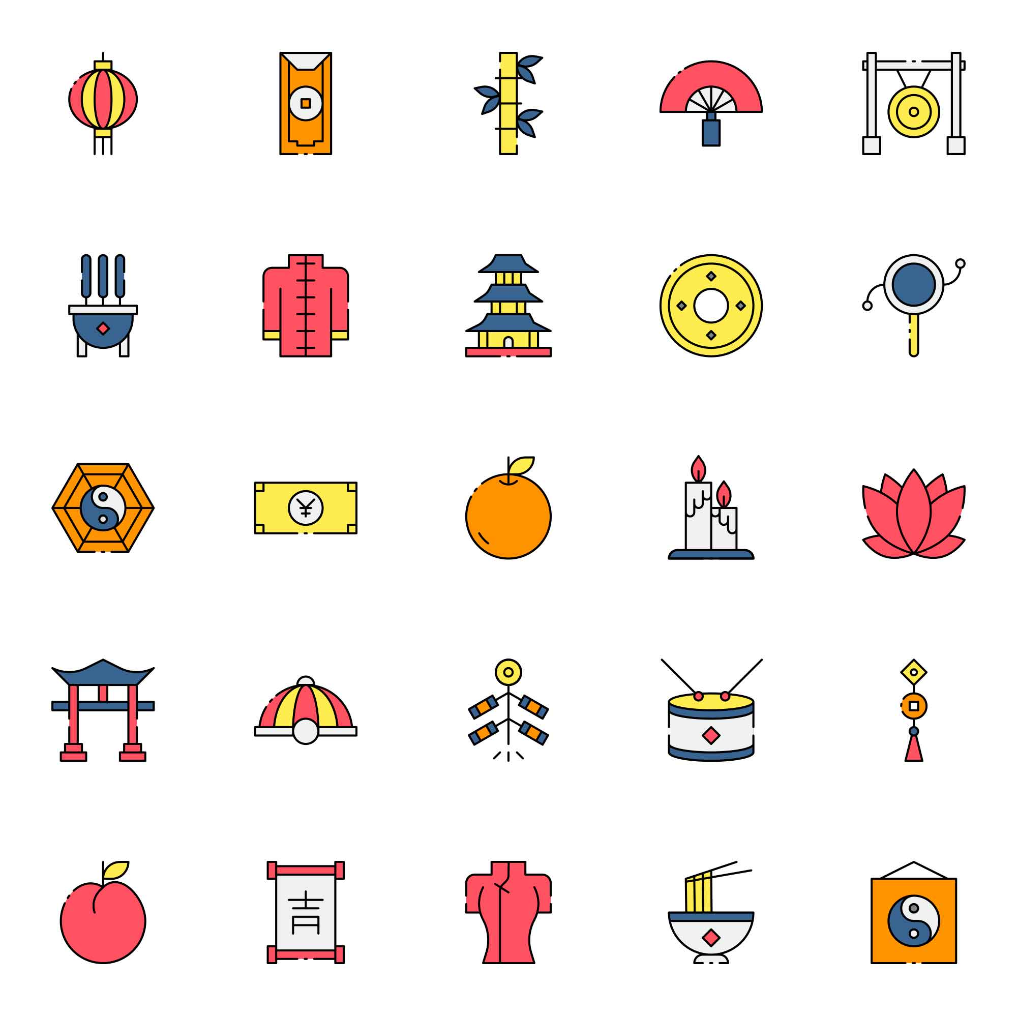 Chinese Tradition Icons
