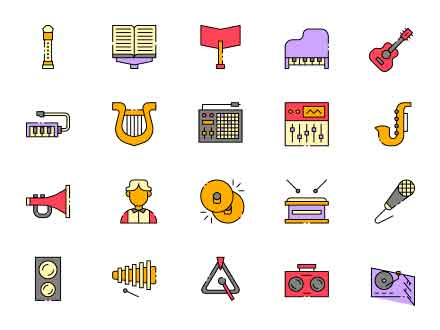 Composer Vector Icons