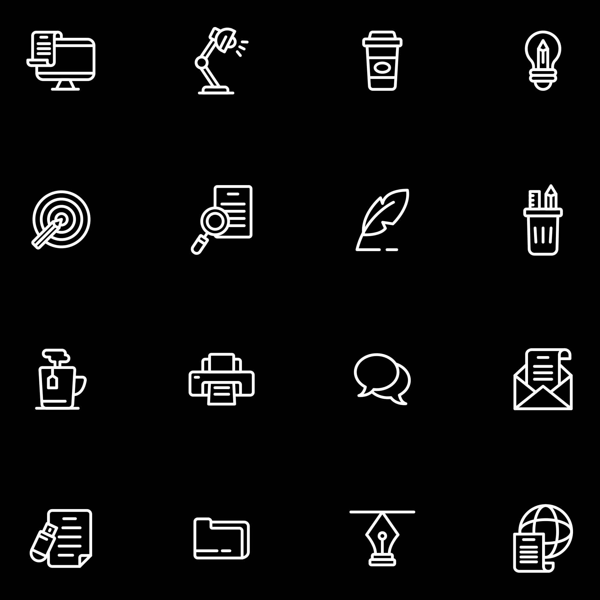 Copywriting Vector Icons Dark