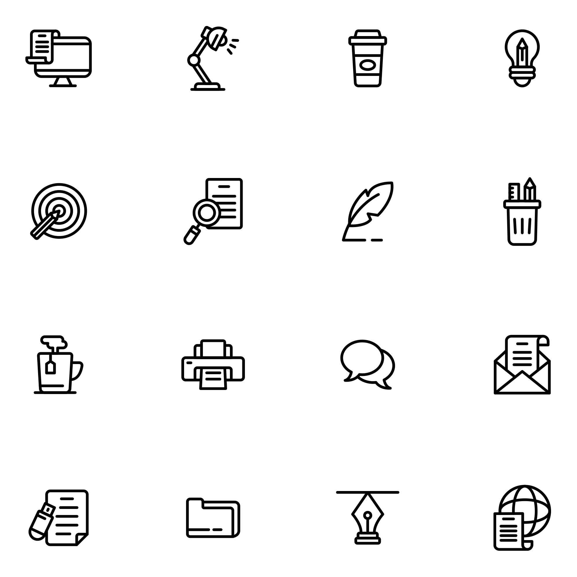 Copywriting Vector Icons